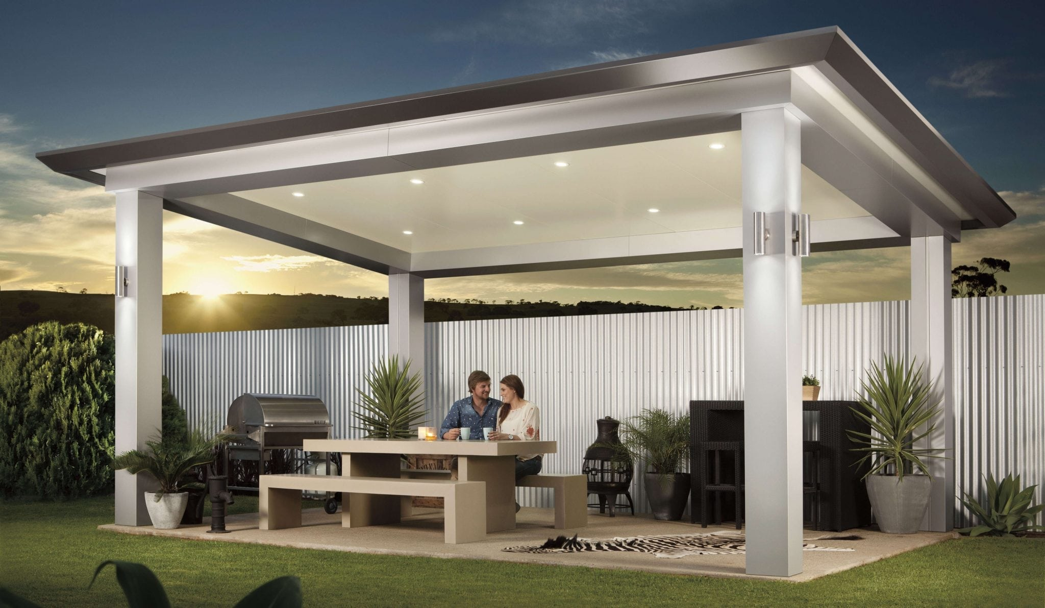 Stratco pavilion alfresco pergola for Pavilion style home designs