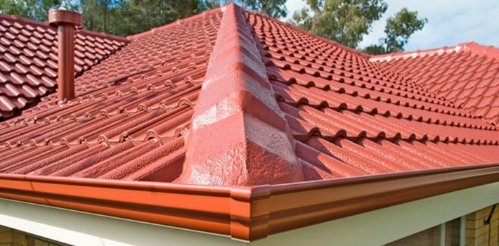 Roof restoration red tiles