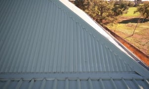 Reroofing grey corrugated Colorbond