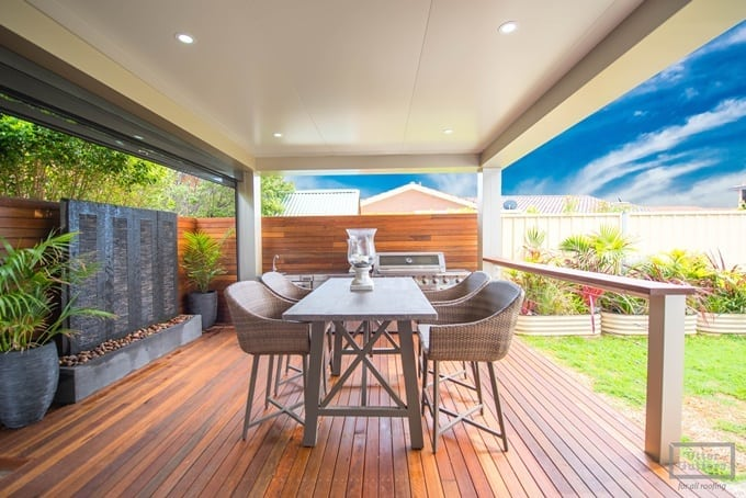 Stratco Cooldek insulated roofing for pergolas, verandahs |