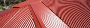 Colorbond red roof
